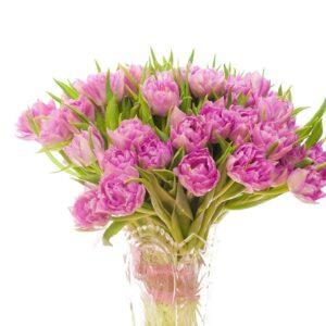 Pinkfarvet blomster